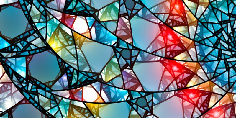 A design made from stained glass