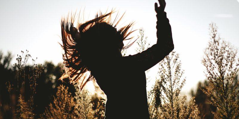 Woman having joy in nature