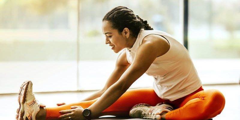 woman doing yoga for arthritis