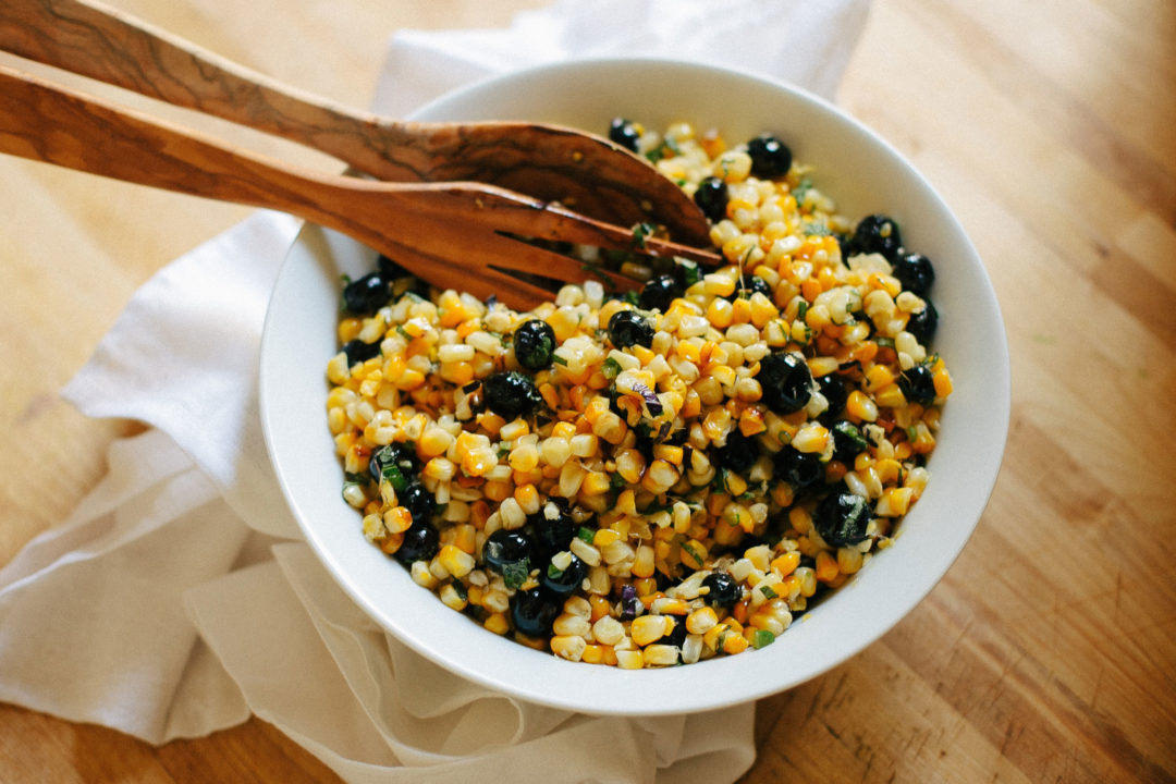 Good Food: Charred Corn and Blueberry Salad, Spirituality & Health