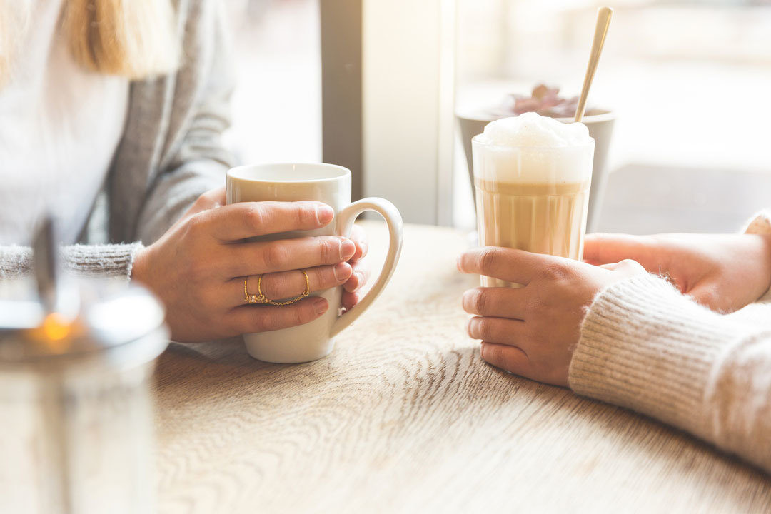 Women meeting for coffee