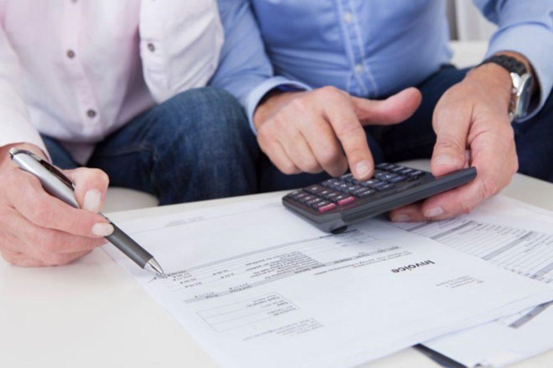 A couple works on finances together