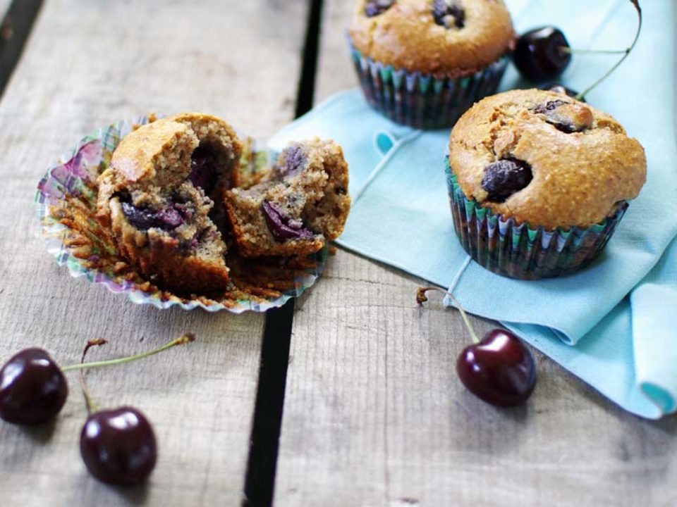 Cherry Almond Meal Muffins: Good Food, Spirituality & Health