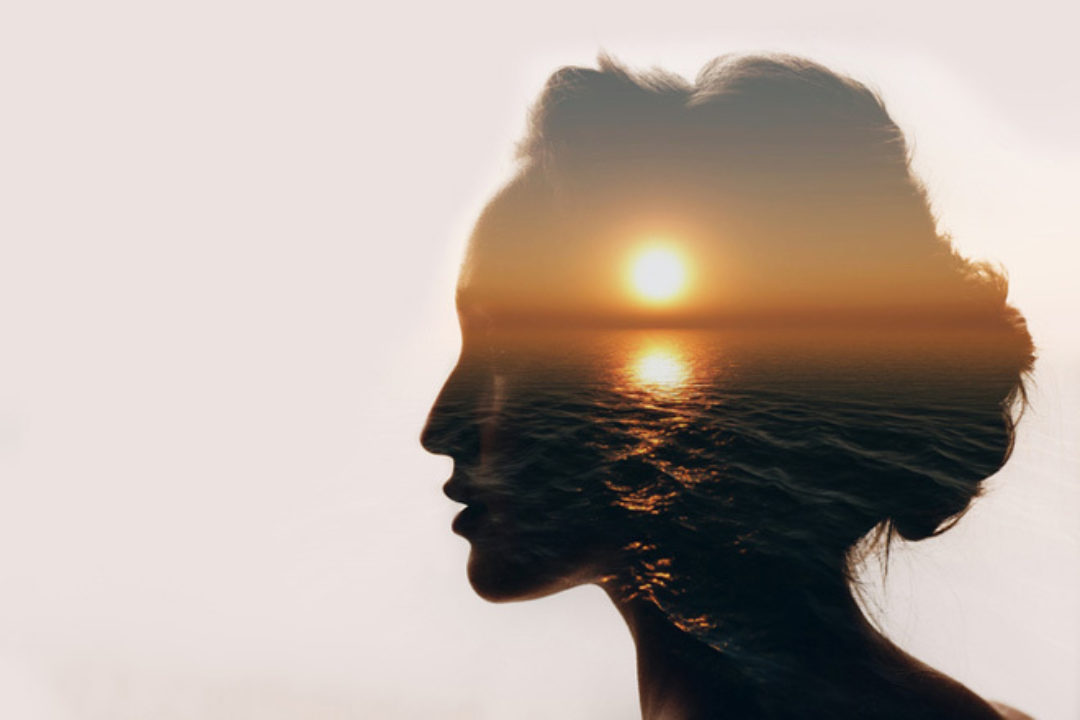 woman with sun on her mind