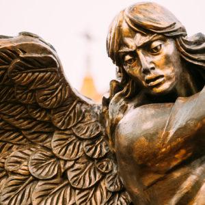 A war-like angel