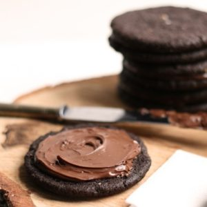 Salted Dark Chocolate Nutella Cookies: Good Food, Spirituality & Health