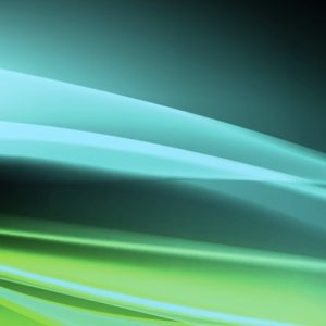 Abstract green and blue light