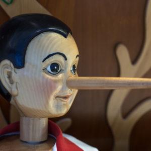 wooden Pinocchio puppet