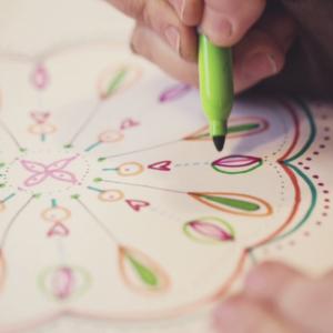 Flora Bowley walks us through creating mandalas