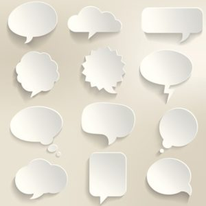 illustration of many thought bubbles