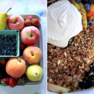 Raw Fruit Crumble with Almond Cream: Good Food, Spirituality & Health