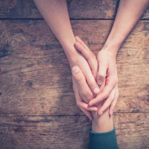 holding hand
