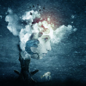 woman sky