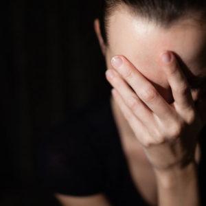 Woman feeling shame