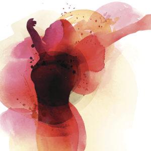 Painting of woman dancing