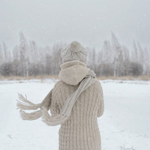 Woman in the snow