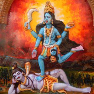 illustration of goddess kali