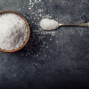 bowl of salt with spoon