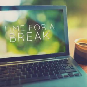 computer screen break time