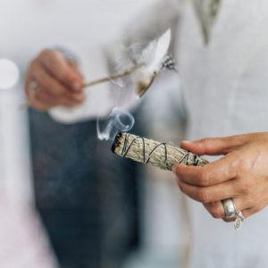 Smudging, Dried Sage Bundle, Burning sage,