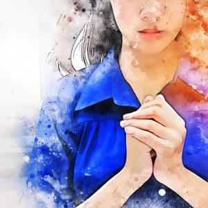 illustration of woman praying