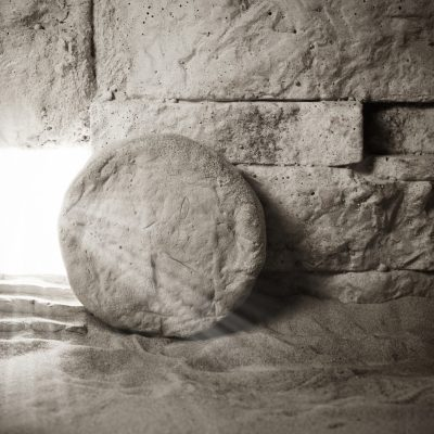 Empty tomb representing Jesus's empty tomb and Easter.