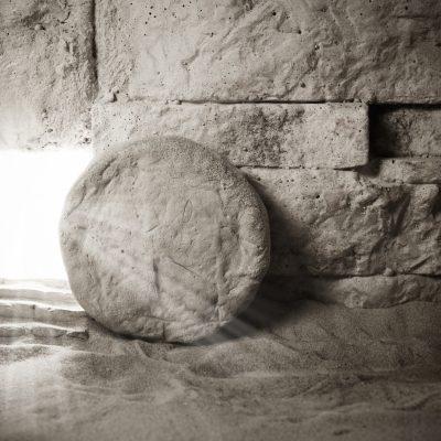 Empty tomb representing Jesus's empty tomb and Easter.