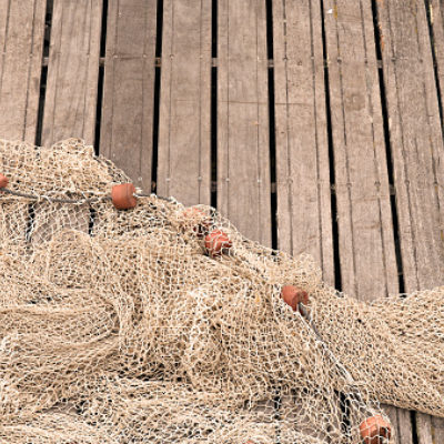 Fishing net on pier