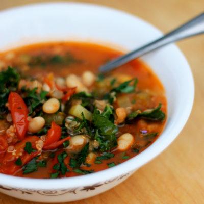 Tomato and White Bean Soup with Quinoa: Good Food, Spirituality & Health