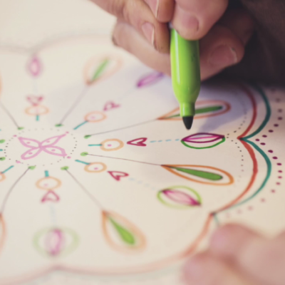Flora Bowley walks us through creating mandalas