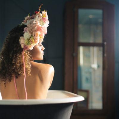 Woman in the bath