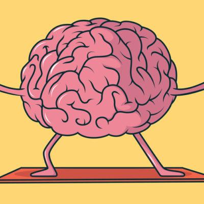 Yoga, sport, mental health design concept