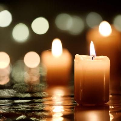 candles lit for winter solstice meditation