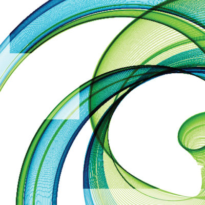 Blue and green watercolor graphic