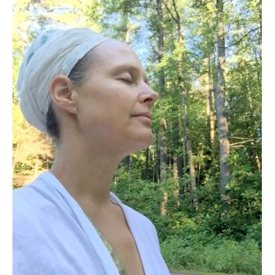 Snatam Kaur in meditation