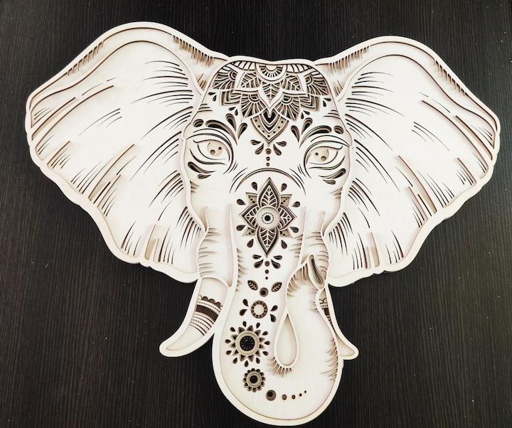 Elephant Wall Art by Christina Samaroo