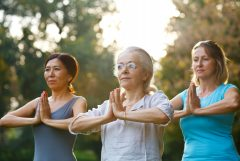 women on a yoga retreat, Getty/Goldfaery