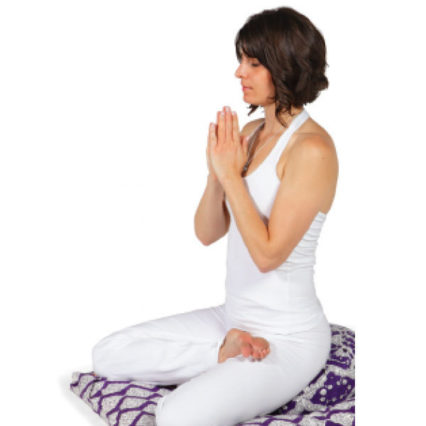 Woman in meditation pose