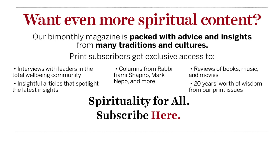 Subscription Offering for Spirituality & Health Magazine