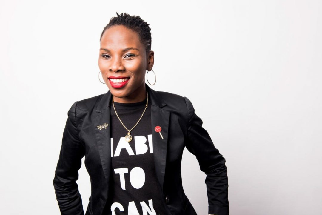 Luvvie Ajayi Jones, an award-winning author, speaker, and podcast host.