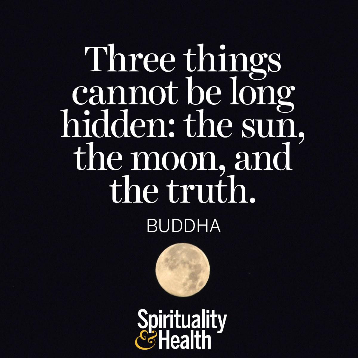 Buddha On Truth Spirituality Health