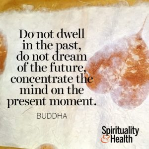 Do not dwell in the past do not dream of the future concentrate the mind on the present moment