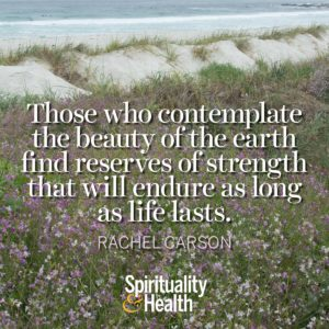 Those who contemplate the beauty of the earth find reserves of strength that will endure as long as life lasts