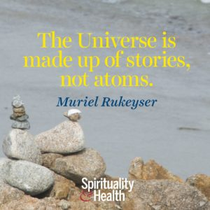 The Universe is made up of stories not atoms