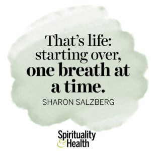<p>That's life: starting over, one breath at a time. - Sharon Salzberg</p>