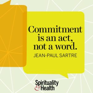 Commitment is an act not a word