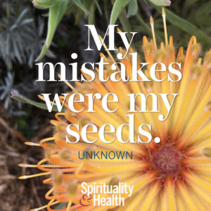 <p>My mistakes were my seeds.</p>