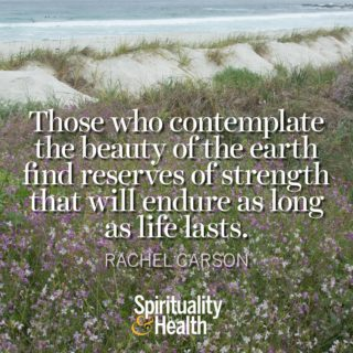 Rachel Carson on Nature and Strength - Those who contemplate the beauty of the earth find reserves of strength that will endure as long as life lasts