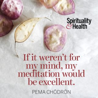 Pema Chödrön on quieting your thoughts - If it weren't for my mind, my meditation would be excellent.