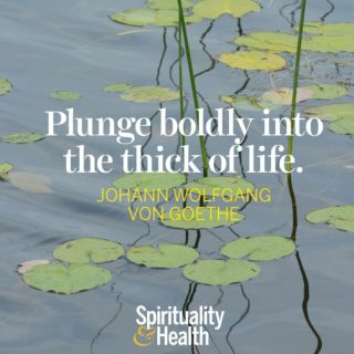 Johann Wolfgang Von Goethe - Plunge boldly into the thick of life